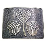 Scottich Kilt Belt Buckle Irish Shamrock Design Antique finish
