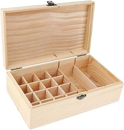 P Prettyia Perfume Cosmético Aceite Esencial Almacenamiento De Pantalla Llevar Caja De Madera Caja Soporte: Amazon.es: Hogar