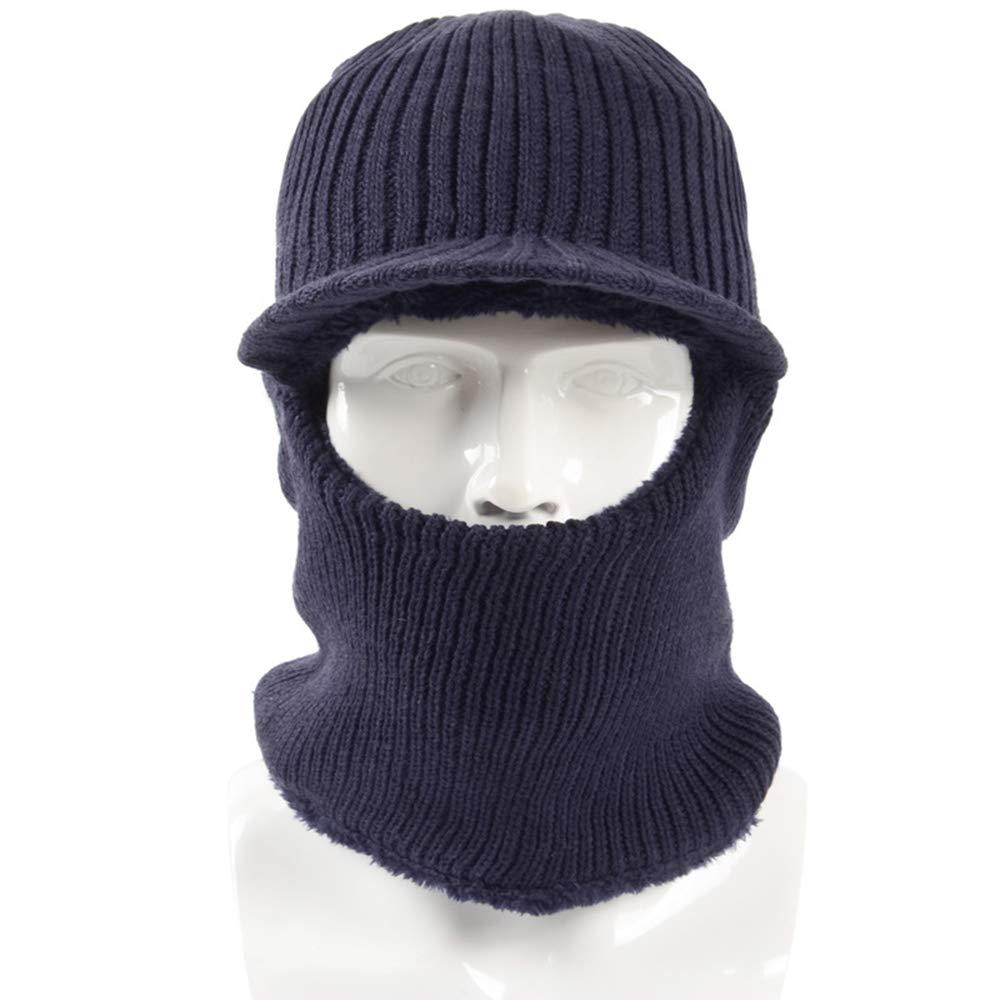 Cappello Cappellino Invernale Copricapo Caldo e Invernale da Uomo Cappellino Invernale Copricapo a Doppio Uso Invernale (Colore : B)