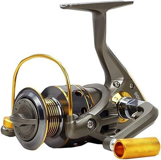 Spinning Carretes de Pesca 5.1:1 10 rodamientos de Bolas con Mango de Metal JC3000-5000 Serie Spinning Carrete Barco Rock Rueda de Pesca,4000model: Amazon.es: Hogar