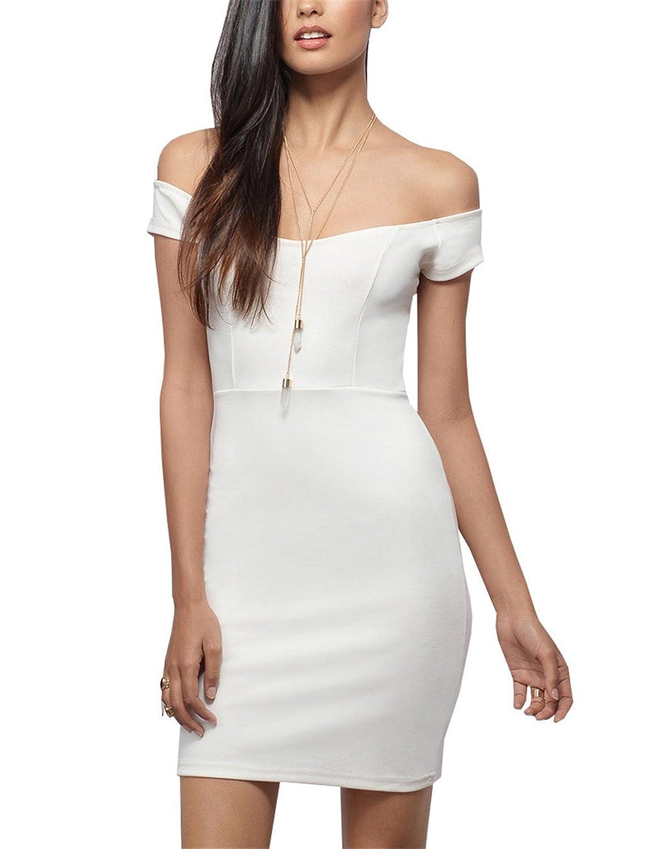 Lymanchi Damen Zipper Kleid Kurzarm Pakethüfte Sexy Abendkleid ...