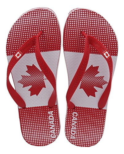 66a16ae214adcf Team Canada Unisex Flip Flop Country Flags Olympic Sports Made in Brazil …  (EU 41