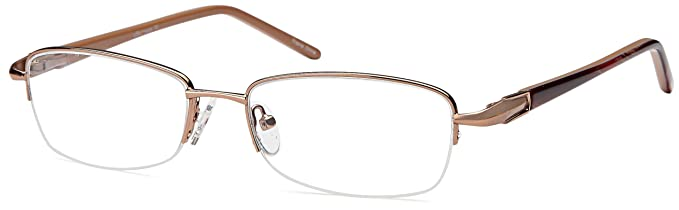 da2eb3dfe3 DALIX Womens Prescription Eyeglasses Frames 53-17-135-31 RXable in Brown GLS