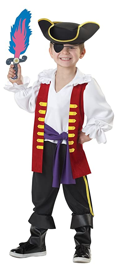 f85d51a28 Amazon.com: California Costumes The Wiggles Captain Feathersword Costume,  4-6: Toys & Games