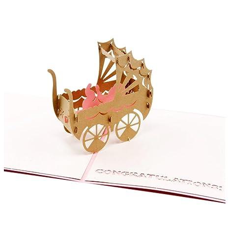 Amazon.com: SODIAL (R) Pop Up Tarjetas de felicitación de ...