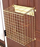 Homewell Mail Catcher Letterbox Basket For Mail Slots | Brass Coated |...