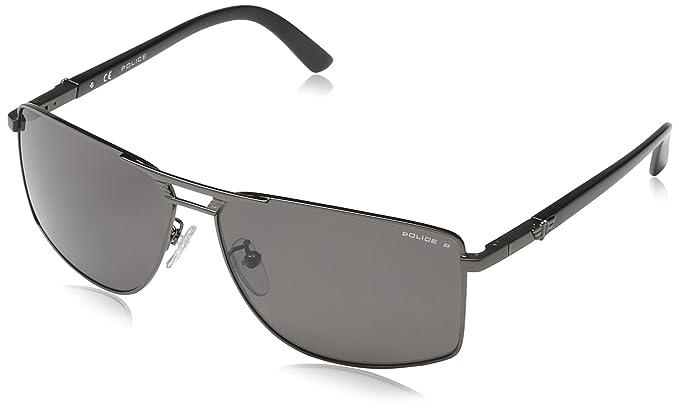 Amazon.com: Police anteojos de sol s8848 Flash 1 584p metal ...