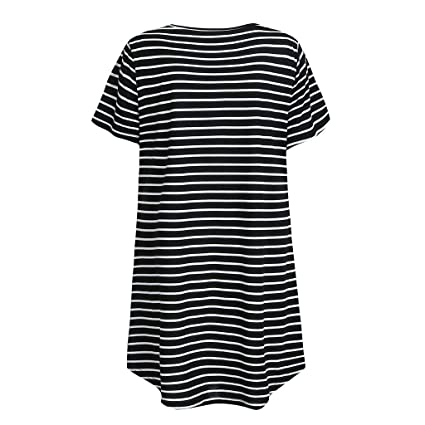 TM Womens Maternity Delivery Hospital Dress Nightshirt Nursing Breastfeeding Nightdress Soft Stripe Loose Pregnancy Midi Dresses Y56