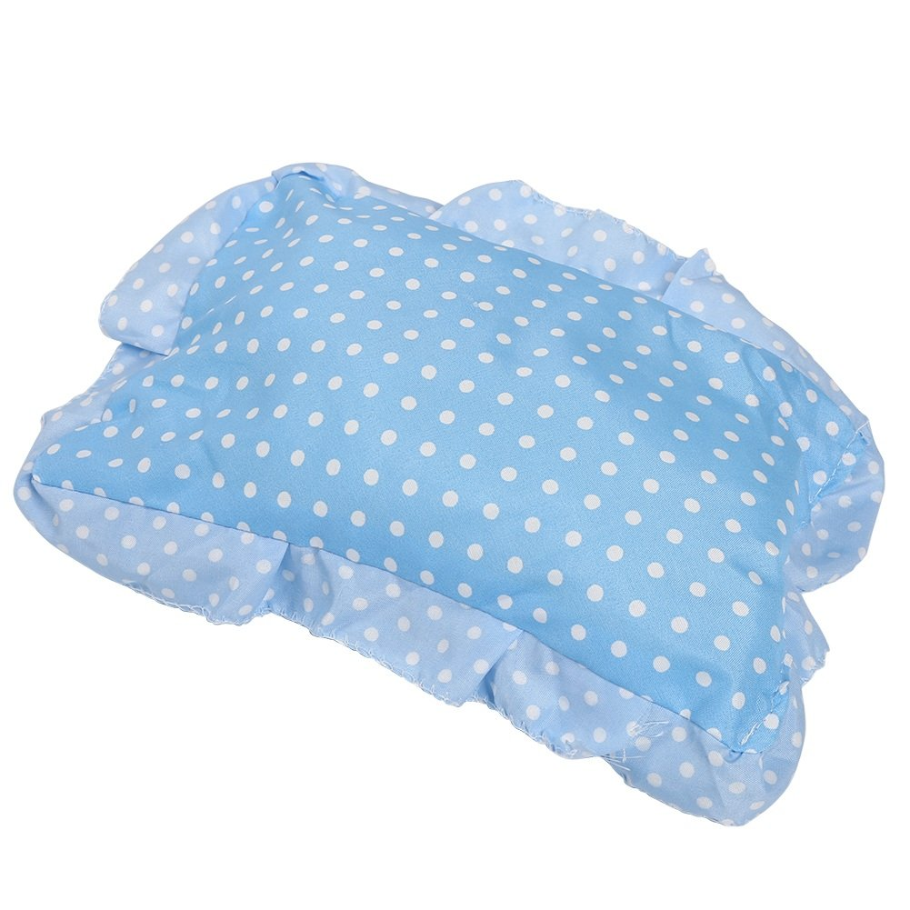 Yosoo Foldable Baby Infant Pop-up Crib Cradle Anti-Bug Tent Mosquito Net with Mattress Pillow Portable Nursery Bed Crib Canopy Travel Beach Park Play Shades, Blue by Yosoo (Image #6)