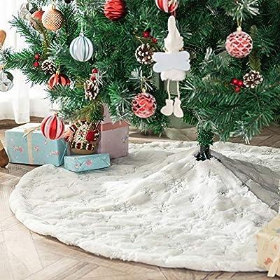 Deggodech Falda de Felpa del árbol de Navidad Blanco Plush ...