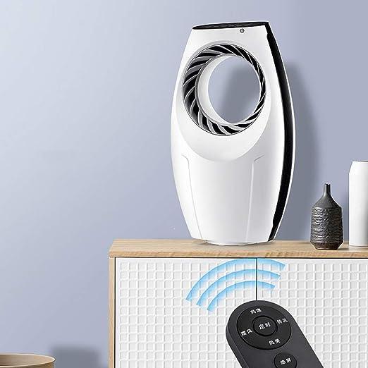 XPfj Ventilador De Mesa, Sin Hojas Aterrizaje Mudo Temporización Inteligente Control Remoto La Seguridad Mesa Ventilador Blanco 58cm: Amazon.es: Hogar