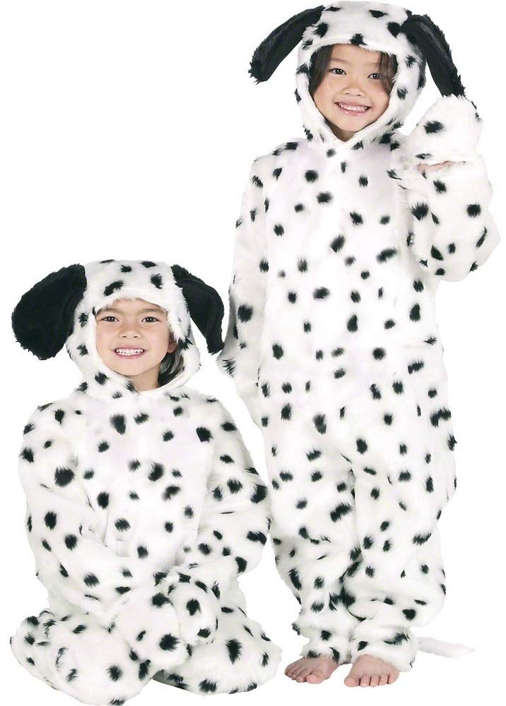 810 years (140cms) Boys Girls Kids Deluxe Fur Dalmatian Dalmation Dog Onesie Animal Book Day Fancy Dress Costume Outfit 312 Years