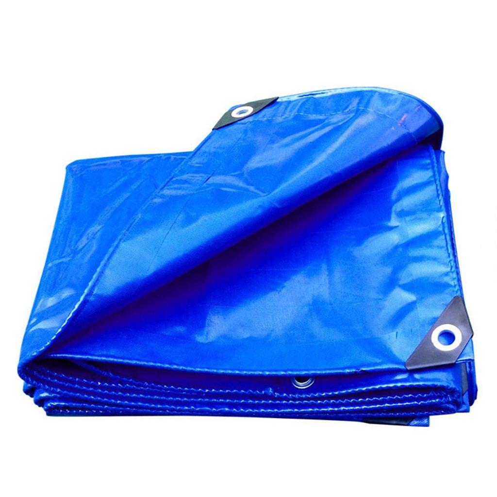 Plane Persenning Blaues wasserdichtes langlebiges Qualitäts-Hochleistungsplanen-MultifunktionsTarp-Auto-Stiefel-Dach-Regen-Abdeckungs-Camping-Anhänger-Zelt - UVBesteändiges, Stärke 0.35mm, Multi-Größe Abd