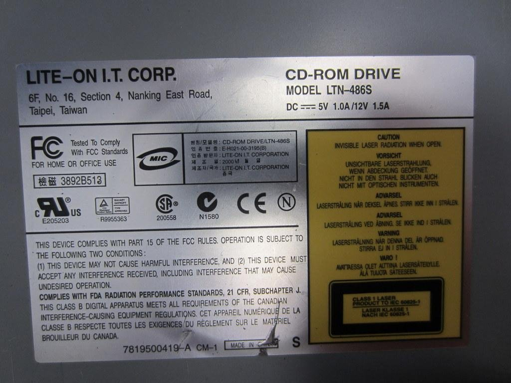 LITEON CD ROM LTN4865 DRIVERS WINDOWS XP