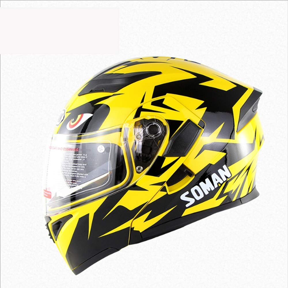 フルフェイスクワッドクラッシュモトクロスヘルメット、レトロオフロードバイクダブルレンズオープンフェイスヘルメットDOT認定マウンテンバイクATVスクーター、XL,大