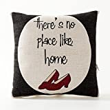 A.B Crew Creative British Style 2 in 1 Cotton Linen Pillow Quilt Blanket Lumbar Supports Throw Pillow Back Cushion(Red High Heel)
