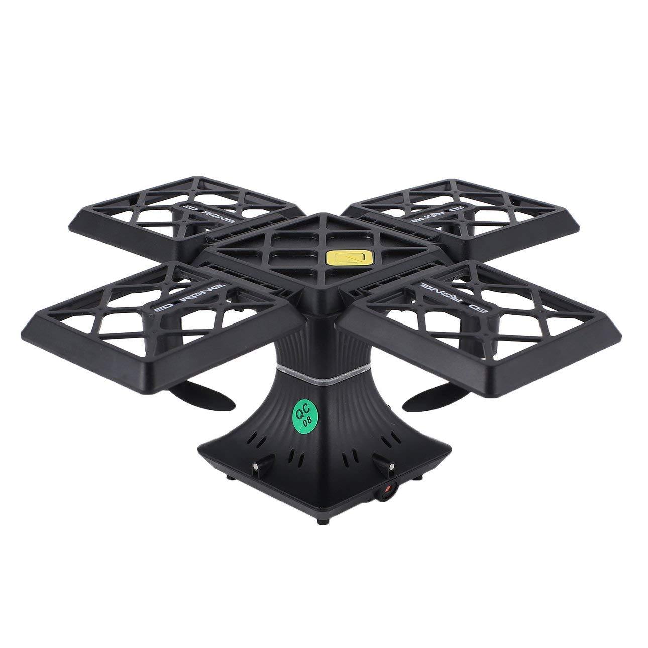 Ballylelly Drone with Camera 414 Selfie FPV Pieghevole Drone Altitude Drone Hold 0.3MP WiFi Fotocamera 3D Flip (Nero)