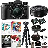 Fujifilm X-T2 Mirrorless Digital Camera with 18-55mm and 27mm f/2.8 Lens (Black) and Software Bundle