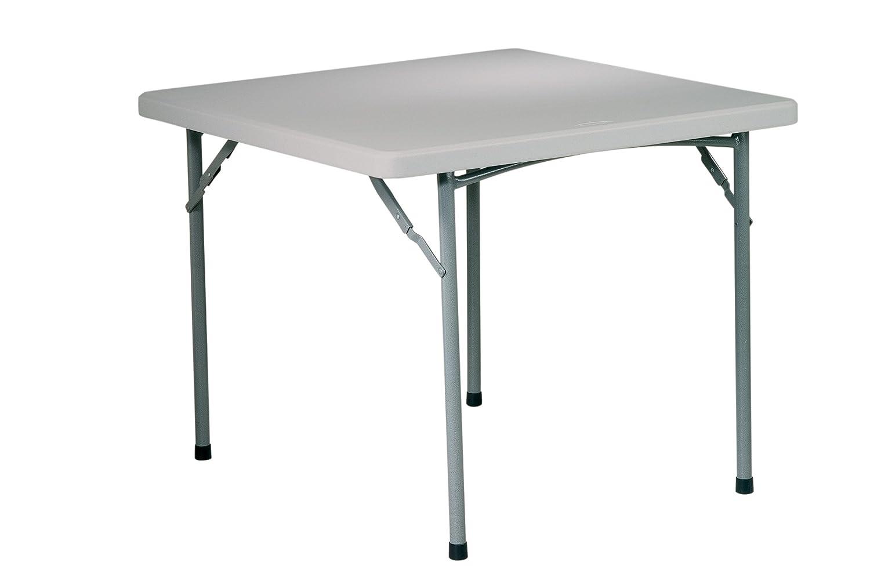 3-Feet Office Star Resin Multipurpose Square Table, 3-Feet