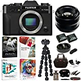 Fujifilm X-T20 Camera Body (Black) with 35mm f/1.4 XF Lens and Software Bundle