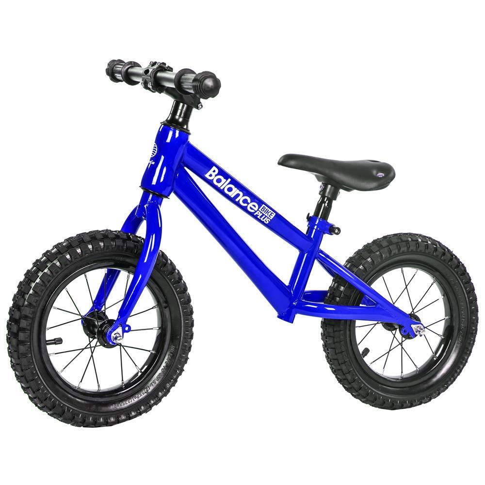 Blau TH -12 Zoll Sport Balance Bike Lernlaufrad Kinderfahrrad Ab 2 Jahren Mit Klingel Verstellbare Sitzhöhe 12  Gummireifen