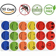 90 Packs Mosquito Repellent Patch, OPACC Mosquito Stickers Keeps Insects and Bugs Far Away Non-Toxic Deet-Free Anti-Mosquito Patch for Travel, Outdoor Concerts and Camping, Picnics In 36 - 72 Hours Effectiveness (90 Packs)