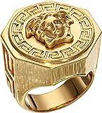 Versace Unisex Greca Medusa Ring Gold 21 (US 8)