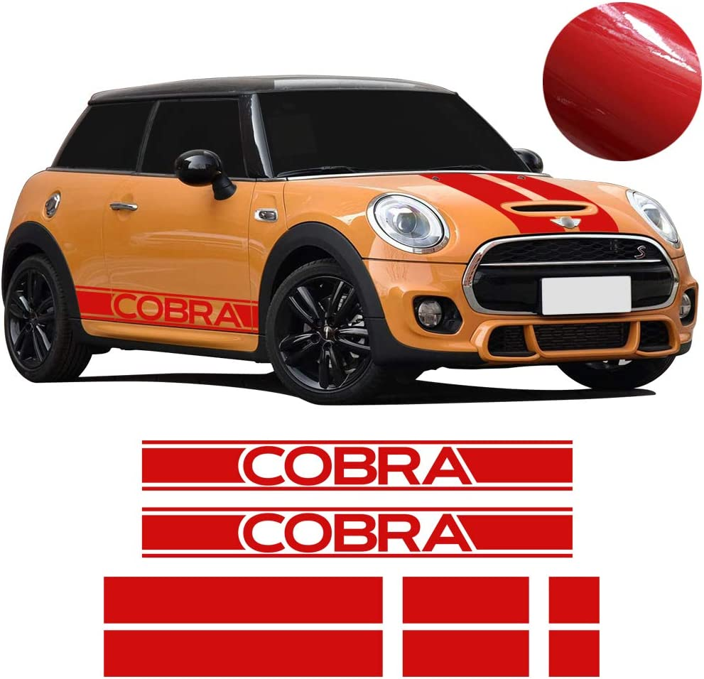 2x JCW Sport Racing Stripes Door Sill Side Skirt Decal For Mini Cooper R56 F56