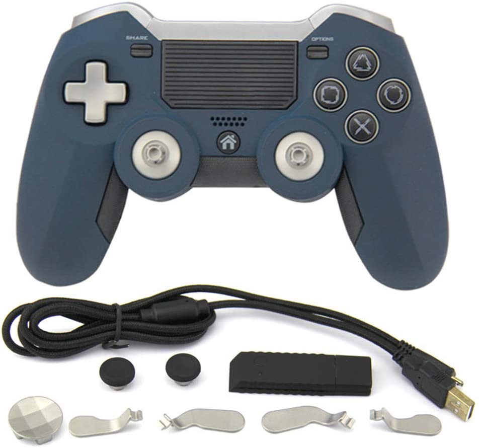 New Fashion PS4 Controller Gamepad Controller para Playstation 4 PS4, Joystick Gamepad Remote Control PS4 Game (Producto de terceros),Gris