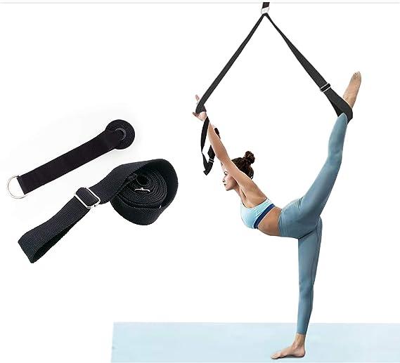 300 x 3,8 cm PTONZ Fitnessb/änder Set Yogagurt Baumwolle Schlingentrainer mit T/üranker Schlagpolster widerstandsb/änder krafttraining Fitnessband f/ür Anf/änger und Fortgeschrittene