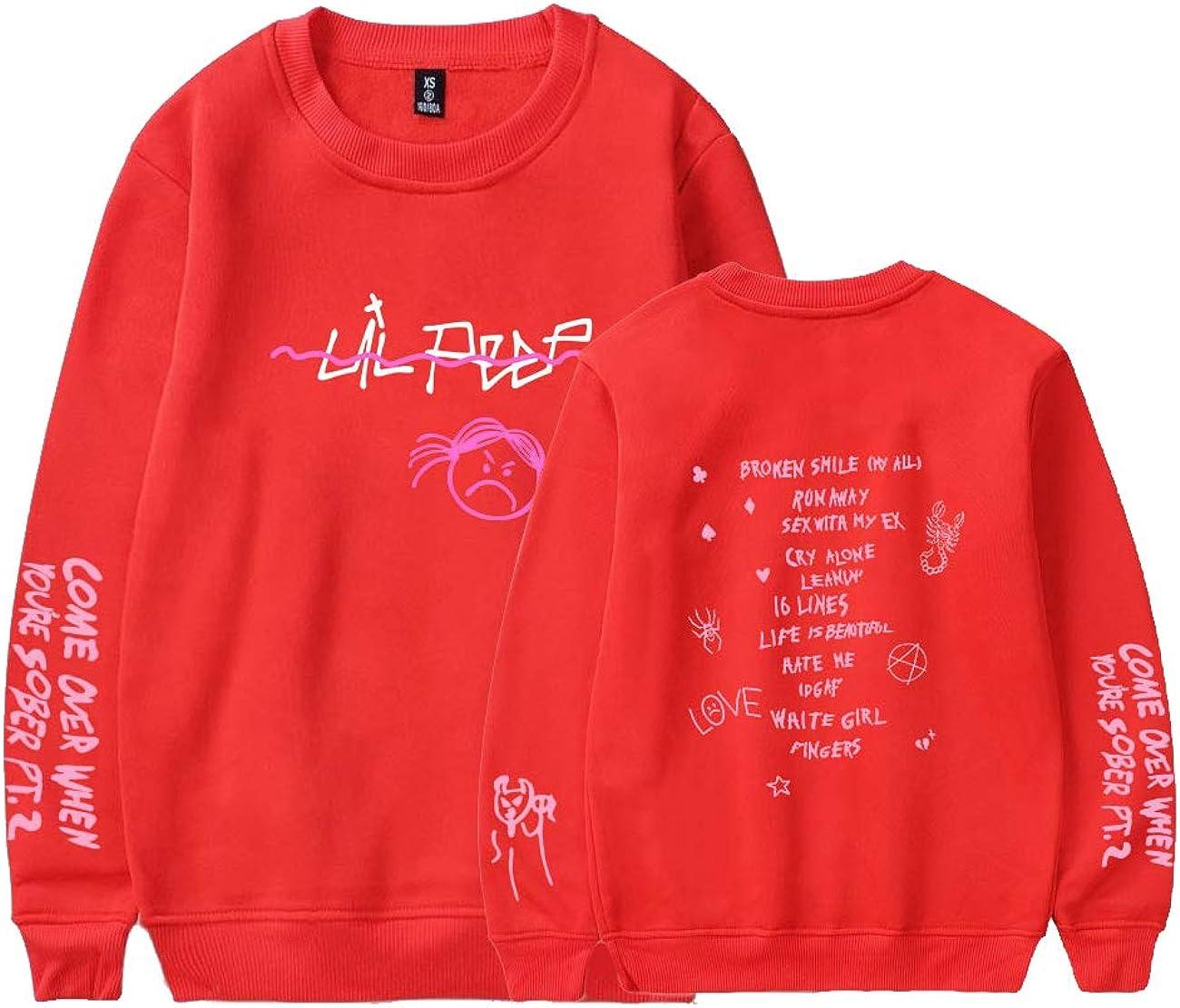 Sweatshirt Adolescent Garcon Fille Col Rond Manches Longues Sweat Rap Hip Hop Hellboy Impression Top Blouse Casual Sport Atuomne Hiver Pull Lil Peep pour Homme Femme