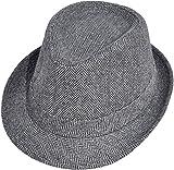 Simplicity Short Brim Teardrop Crown Wool Blend Fedora Hat