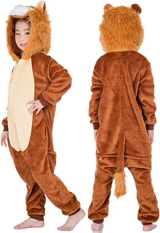 FTYUNWE Pijama Animal Niña Unisexo Cosplay Traje Disfraz Niña ...