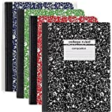 Staples Assorted Colors Composition Book ~ College Ruled 9 ¾ in X 7 ½ in (4 Pack)