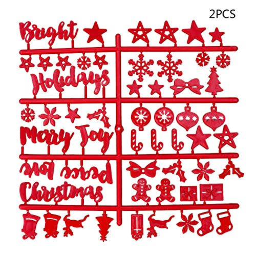 CHBC 2Pcs Christmas Red Felt Sign Board Plastic Letters for Felt Letters Board for Sign Board