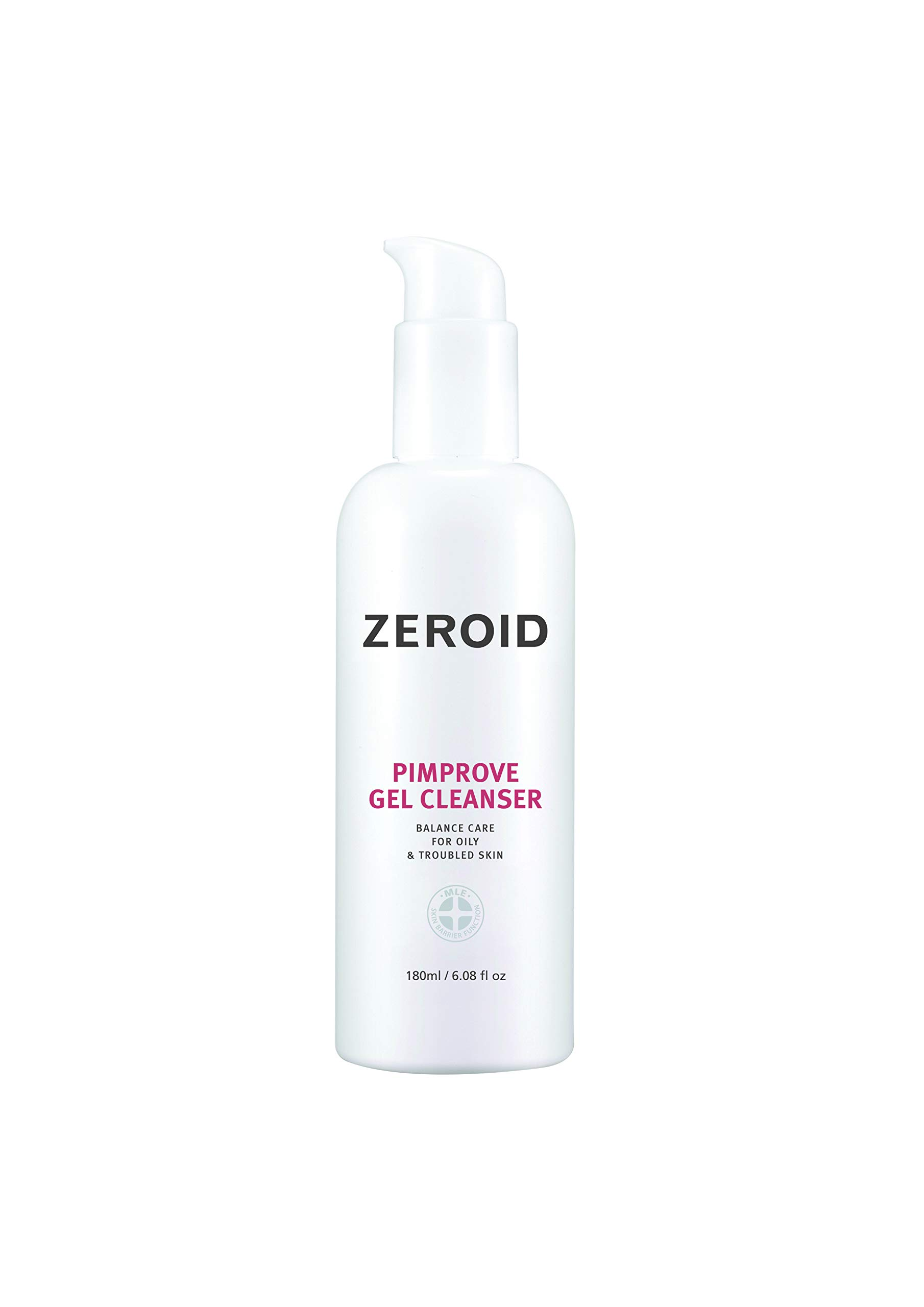 ZEROID Pimprove Gel Cleanser Balanced Care for Oily & Troubled Skin (180 mL)