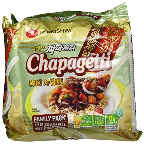 (Nongshim Chapagetti Chajang Noodle, 4.5 Ounce (Pack of 4))