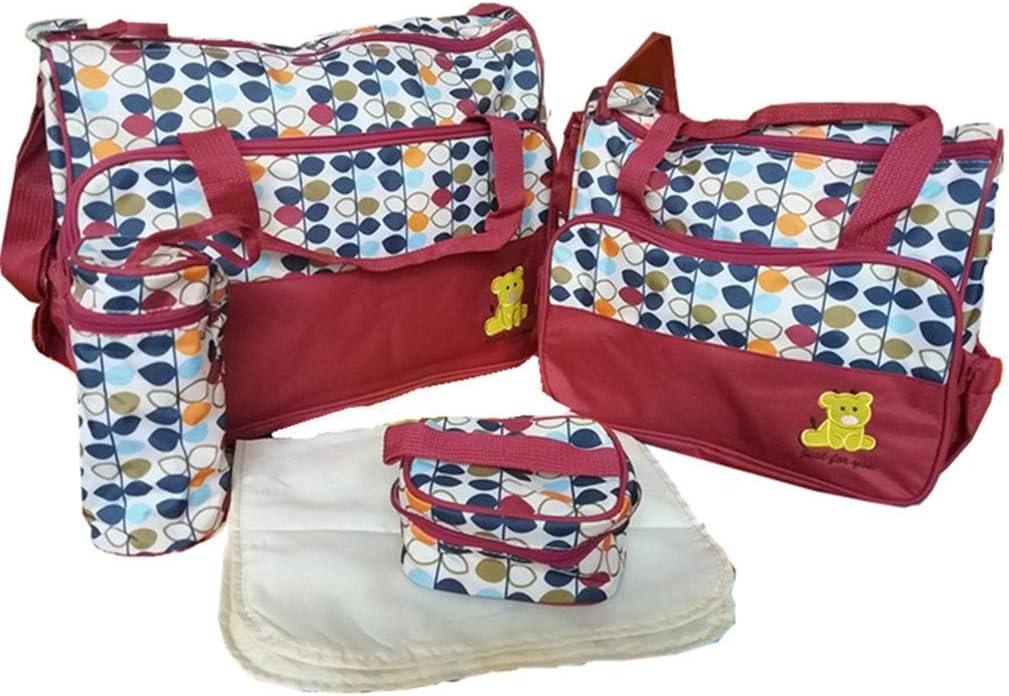 Yangge Yujum Multifunción a Prueba de Agua del Hospital paño de Microfibra Bolsas de pañales para bebés 5pcs Cambio Bolso de Gran Capacidad