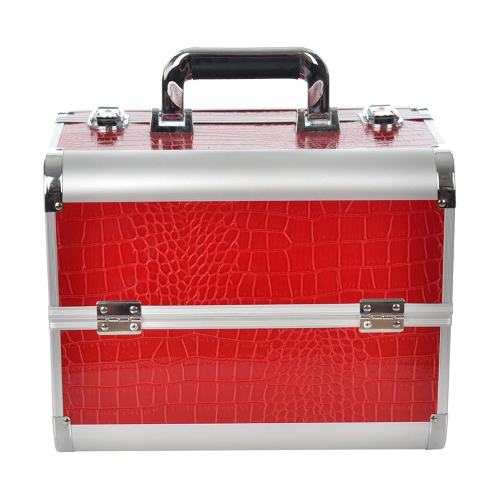 SAILUN Rouge Maquillage Coiffure Nail Cosmetic Valise Beauty Case boîte à maquillage outils Bagages