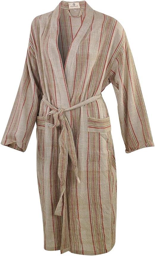 Mens Cotton Blend Lightweight Robe Long Sleeve Premium Sleep /& Morning Robe