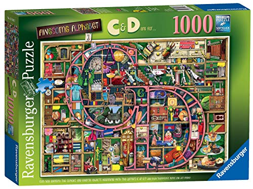 - Ravensburger Colin Thompson - Awesome Alphabet C & D, 1000pc Jigsaw Puzzle