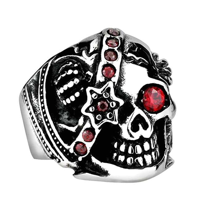 Deluxe Adult Costumes - Men's stainless steel Pirates of the Caribbean, Captain Jack Sparrow skull pirate ring