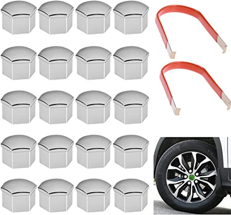20Pcs Universal 17mm Wheel Lug Nut Bolt Cover Caps with Removal Tools Hamimelon Wheel Lug Nut Center Cover Bolt Caps
