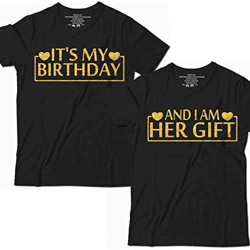 7b4baf17d It's My Birthday And I Am Her Gift Wife Husband Couple Mr Mrs Hubby Wifey  Bride Groom Valentines Day Customized Handmade T-Shirt Hoodie/Long  Sleeve/Tank ...