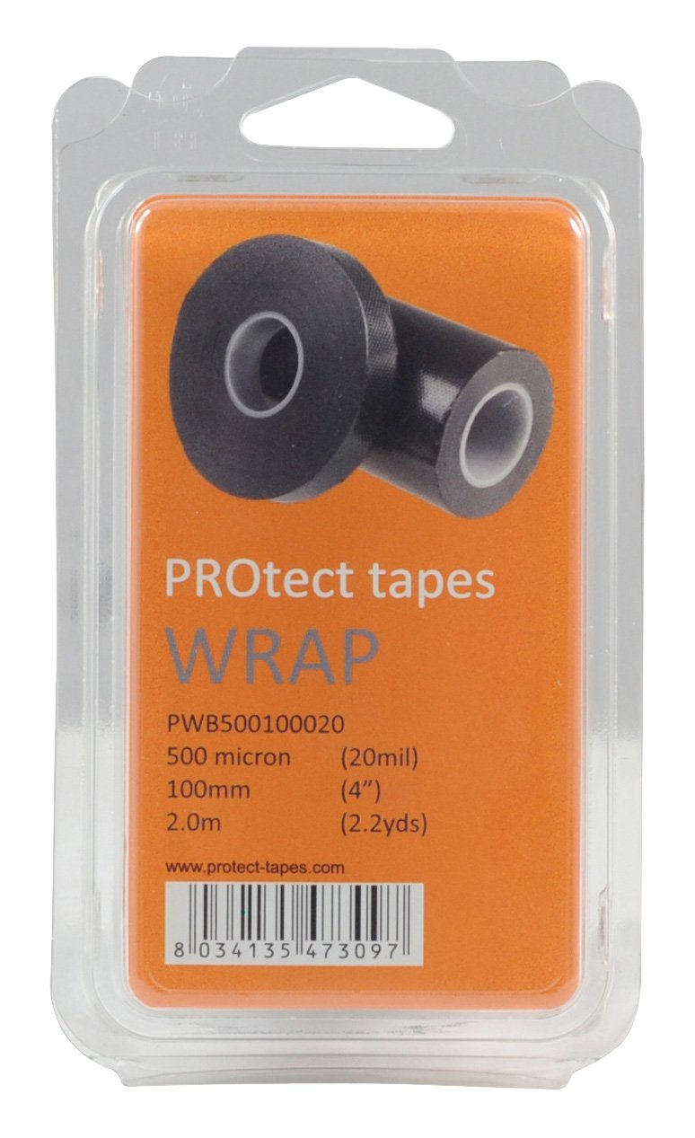 55998 PRO TECT TAPES Angeln Accessoires Wrap Self Amalgamating 500 micron Black 100 x 2 mm