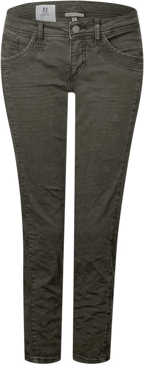 Street One dames jeans (slim) 372134 Crissi groen (Chilled Green) Washed