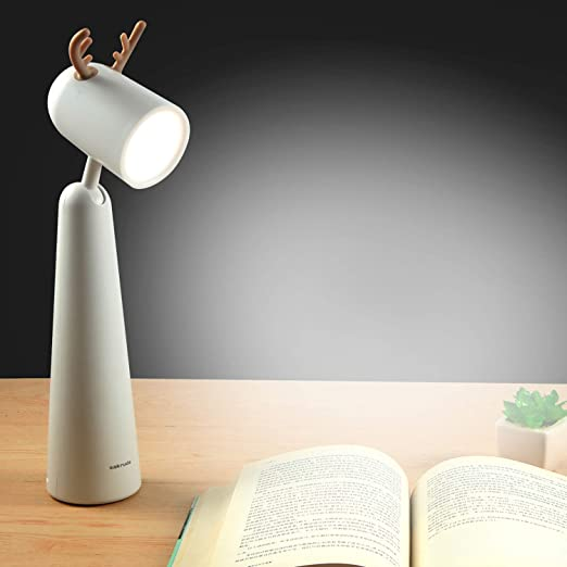 Sakruda LED Desk Lamp,Portable Eye Protection Table Light with Adjustable Head,Rechargeable Beside Reading Light for Study,Office,Kids,Battery Powered