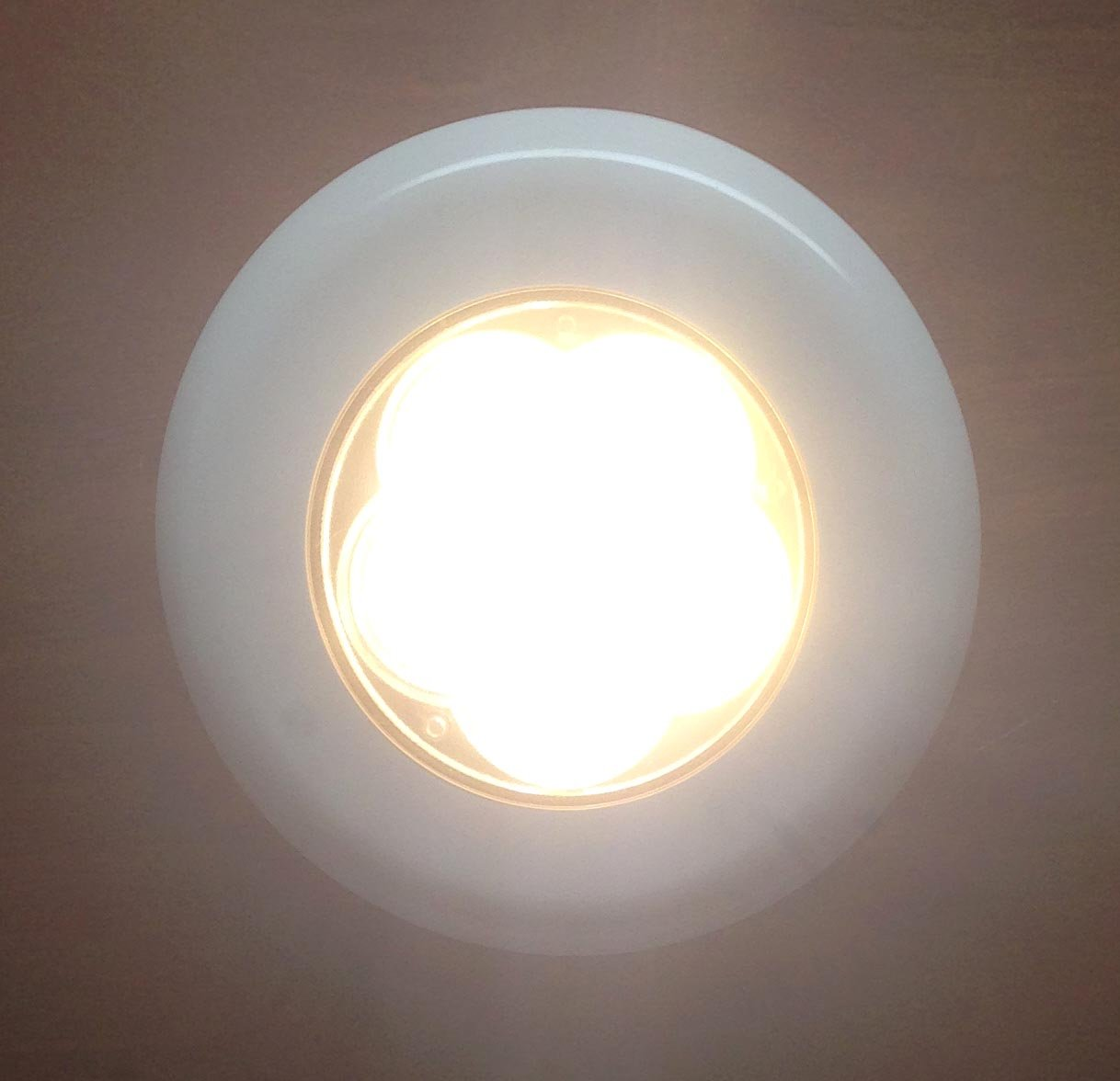 Pactrade Marine Boat 6 LED, Ceiling Courtesy Light Plastic Flush and Surface, Warm White
