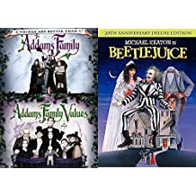 Tim Burton Beetlejuice Movie DVD & The Addams Family 2 / Values Weird Fantasy 3 Movie Bundle Fun set IT'S SHOWTIME!