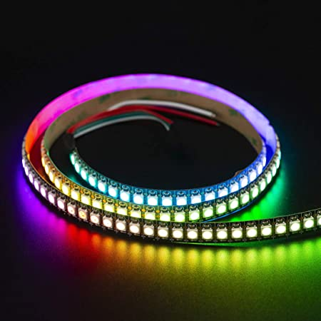 BTF-LIGHTING RGBW RGB+Warm White SK6812 (Similar WS2812B) Individually  Addressable 3 3ft 1m 144LEDs/pixels/m Flexible 4 Colors in 1 LED Dream  Color